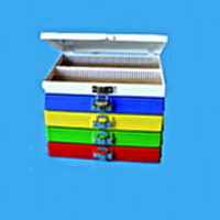 Hinged Slide box - Blue