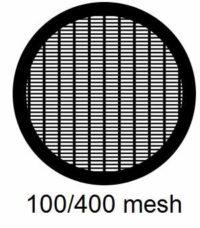 G100/400-G3, 100/400 mesh, parallel, Au, vial 50