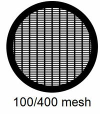 G100/400-CP3, 100/400 mesh, parallel, Cu/Pd, vial 100