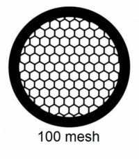 G100HEX-N3, 100 mesh, hexagonal, Ni, vial 100