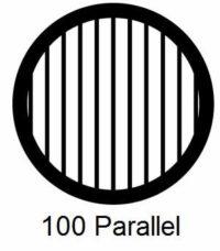 G100P-G3, 100 mesh, parallel, Au, vial 50
