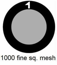 G1000HS-G3, 1000 fine square mesh, Au, vial 25