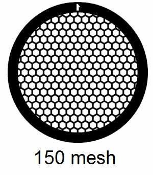 G150HEX-CP3, 150 mesh, hexagonal, Cu/Pd, vial 100