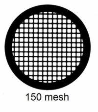 G150-G3, 150 mesh, square, Au, vial 50