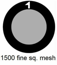 G1500HS-G3, 1500 fine square mesh, Au, vial 15