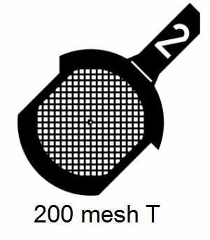 G200T-G3, 200 mesh, square, Au, vial 50