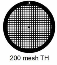 G200TH-G3, 200 mesh, square, Au, vial 50