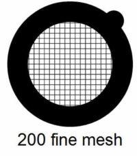G200HS-N3, 200 fine square mesh, Ni, vial 100