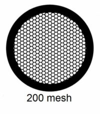 G200HEX-G3, 200 mesh, hexagonal, Au, vial 50