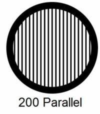 G200P-G3, 200 mesh, parallel, Au, vial 50