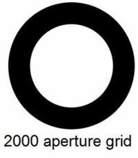 G2000HA-C3, 2000 mesh circular apertures, Cu, vial 10