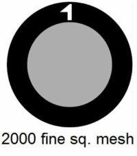 G2000HS-G3, 2000 fine square mesh, Au, vial 10