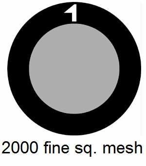 G2000HS-C3, 2000 fine square mesh, Cu, vial 10