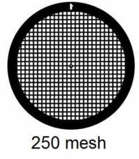 G250-G3, 250 mesh, square, Au, vial 50