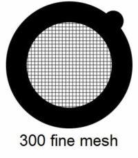G300HS-N3,300 fine square mesh, Ni, vial 100