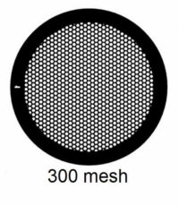 G300HEX-G3, 300 mesh, hexagonal, Au, vial 50