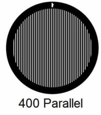 G400P-G3, 400 mesh, parallel, Au, vial 50