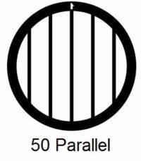 G50P-G3, 50 mesh, parallel, Au, vial 50