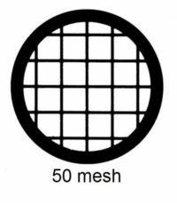 G50-G3, 50 mesh, square, Au, vial 50