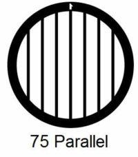 G75P-G3, 75 mesh, parallel, Au, vial 50