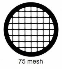 G75-N3, 75 mesh, square, Ni, vial 100
