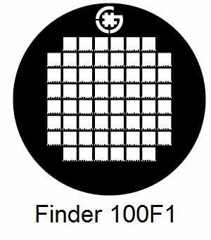 G100F1-N3, Finder grids, Ni, vial 100