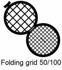 GD50/100-G3, Double folding grids, 50/100 mesh, Au, vial 50