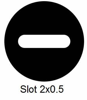 GS2x0.5-C3, Slot grids, 2mm x 0.5mm, Cu, vial 100