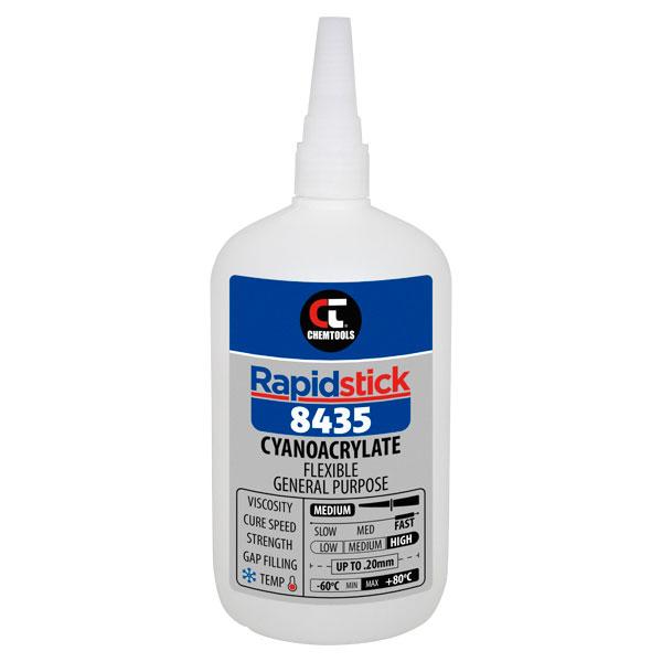 Rapidstick 8435 Cyanoacrylate Adhesive (Flexible, General Purpose) - 500g Bottle