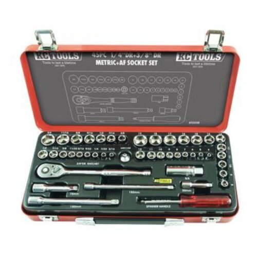 "45 PIECE 1/4"" & 3/8"" DRIVE METRIC & AF SOCKET SET A13330"