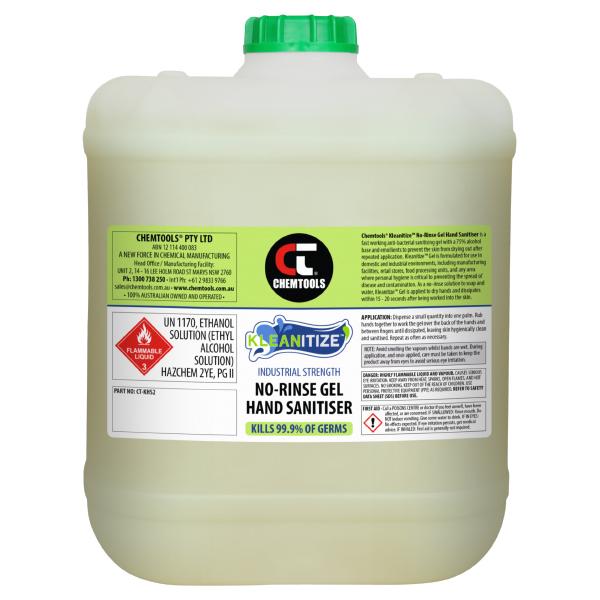 Kleanitize No-Rinse Gel Hand Sanitiser (Ethanol-Based) - 20L