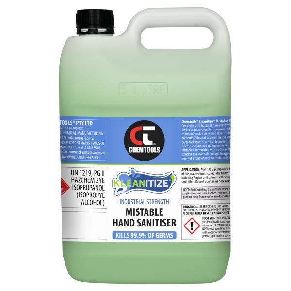 Kleanitize Mistable Hand Sanitiser - 5L - 2 pack