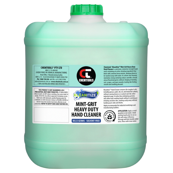 Kleanitize Mint-Grit Heavy Duty Hand Cleaner - 20L