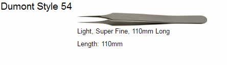 Dumont Tweezers Style 54, 72709-D