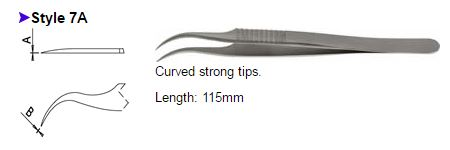 Dumont Tweezers Style 7A, 0508-7A-PO