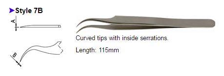 Dumont Tweezers Style 7B, 0508-7B-PO