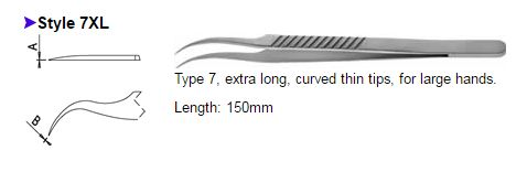 Dumont Tweezers Style 7XL, 0508-7XL-PO