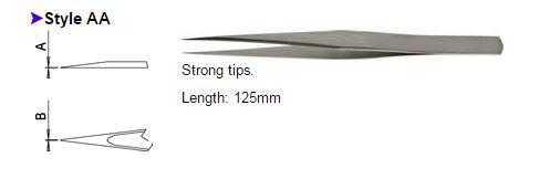Dumont Tweezers Style AA, 0103-AA-PO