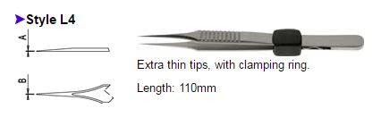 Dumont Tweezers Style L4, 0508-L4-PO