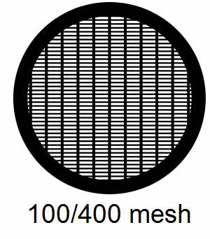 G100/400-CP3, 100/400 mesh, parallel, Cu/Pd, vial 100