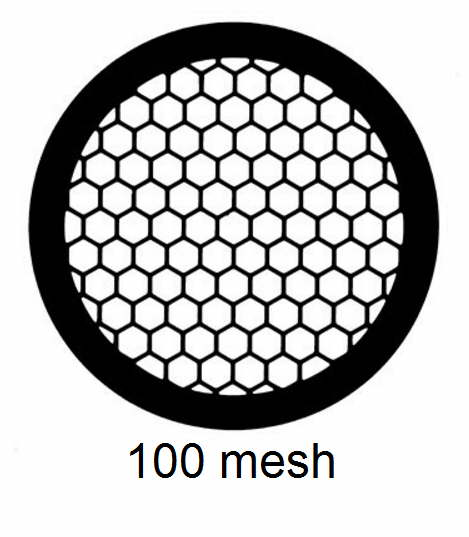 G100HEX-C3, 100 mesh, hexagonal, Cu, vial 100