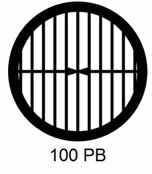 G100PB-CP3, 100 mesh, parallel, Cu/Pd, vial 100