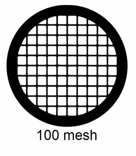 G100-C3, 100 mesh, square, Cu, vial 100