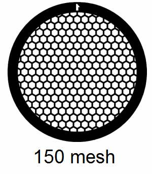 G150HEX-C3, 150 mesh, hexagonal, Cu, vial 100