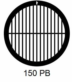 G150PB-CP3, 150 mesh, parallel, Cu/Pd, vial 100