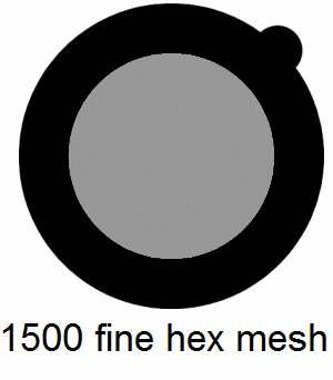 G1500HH-G3, 1500 fine hexagonal mesh, Au, vial 15