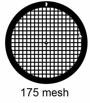 G175-G3, 175 mesh, square, Au, vial 50