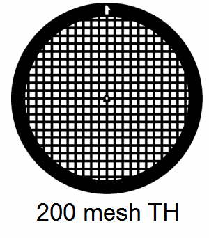 G200TH-CP3, 200 mesh, square, Cu/Pd, vial 100