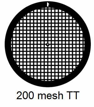 G200TT-C3, 200 mesh, square, Cu, vial 100