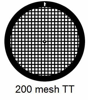 G200TT-N3, 200 mesh, square, Ni, vial 100